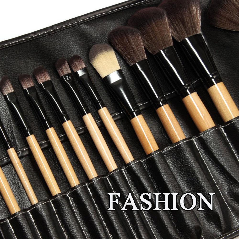 Pro 24Pcs Superior Soft Cosmetic Makeup Brush Set Brushes Kit ...