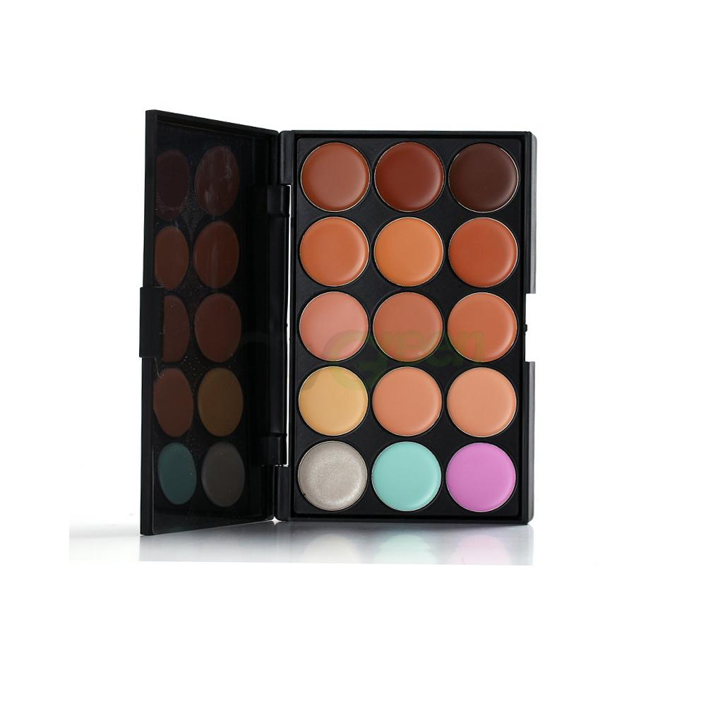 15 Colors Face Concealer Camouflage Cream Contour Palette 11PC ...