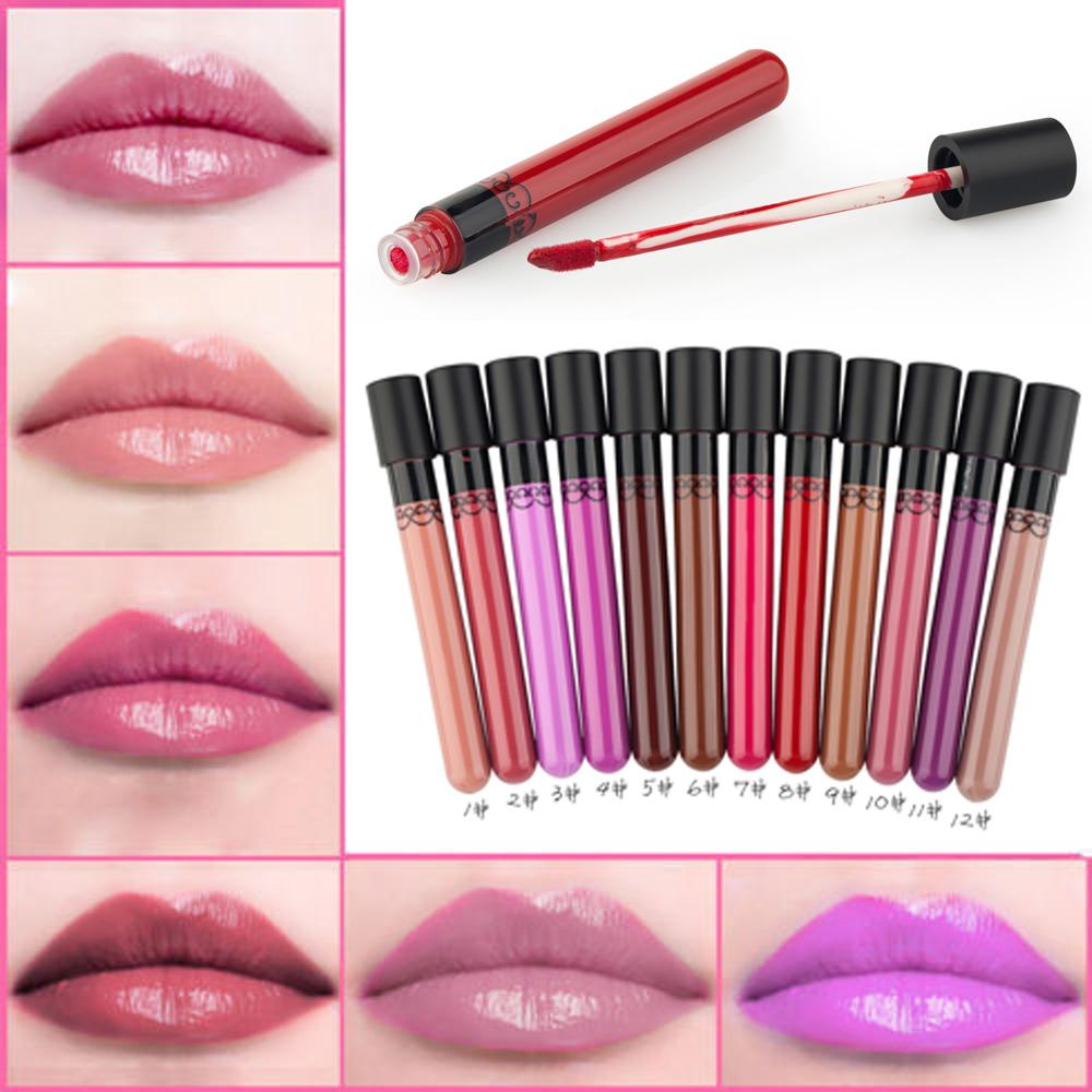 12 Colors Lipstick Waterproof Liquid Pencil Matte Lip -2576