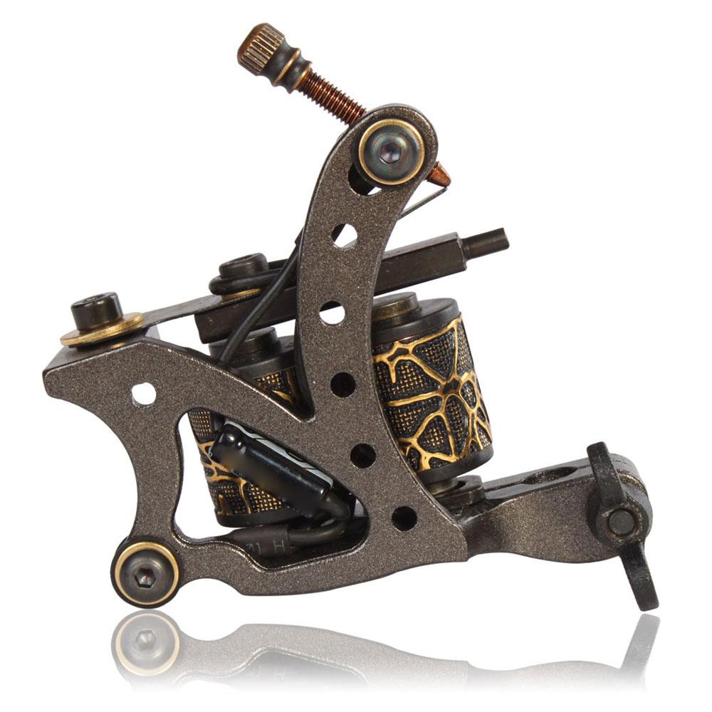 New pro tattoo machine gun shader liner 10 wrap coils for Tattoo liner machine