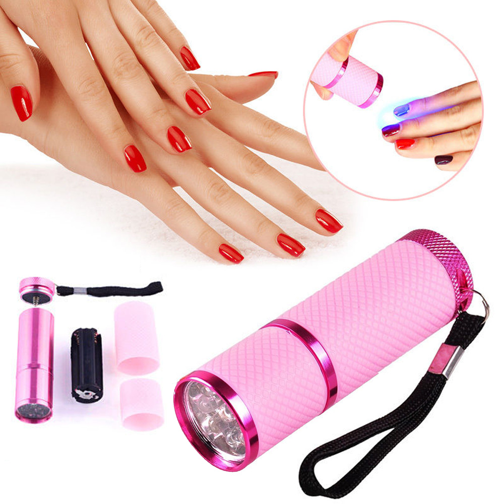 Gel Nail Polish Light Pink: Pro Mini LED Nail Dryer Curing Lamp Flashlight Torch For