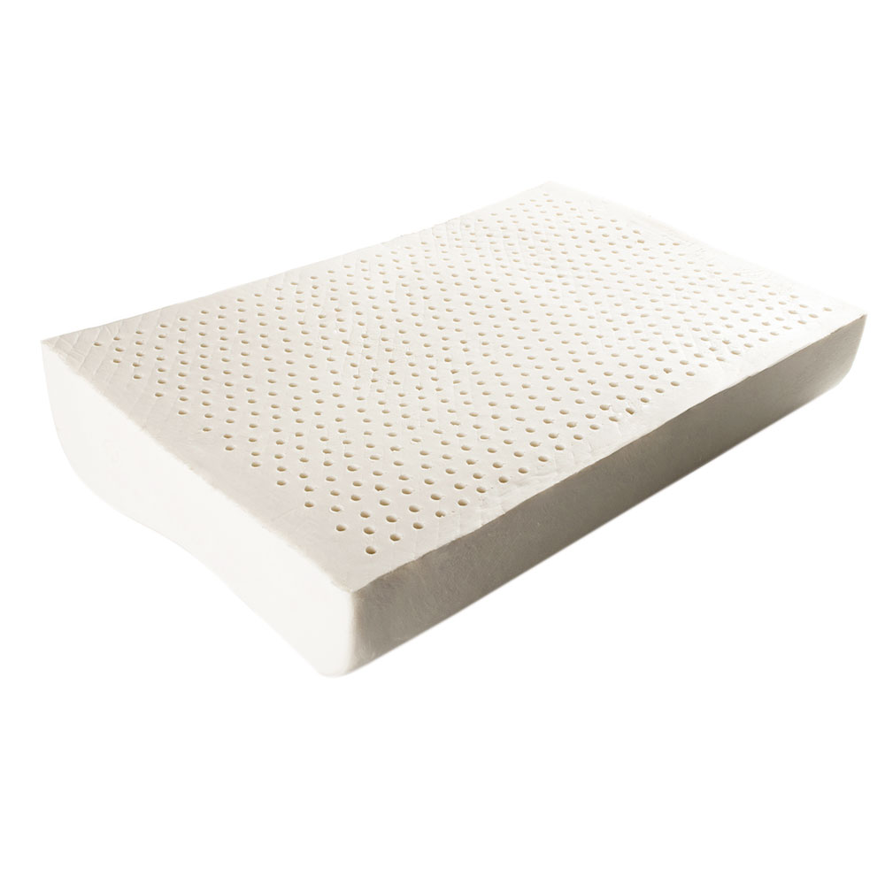 Talalay Natural Latex Foam Pillow Wave Shape Contoured ...