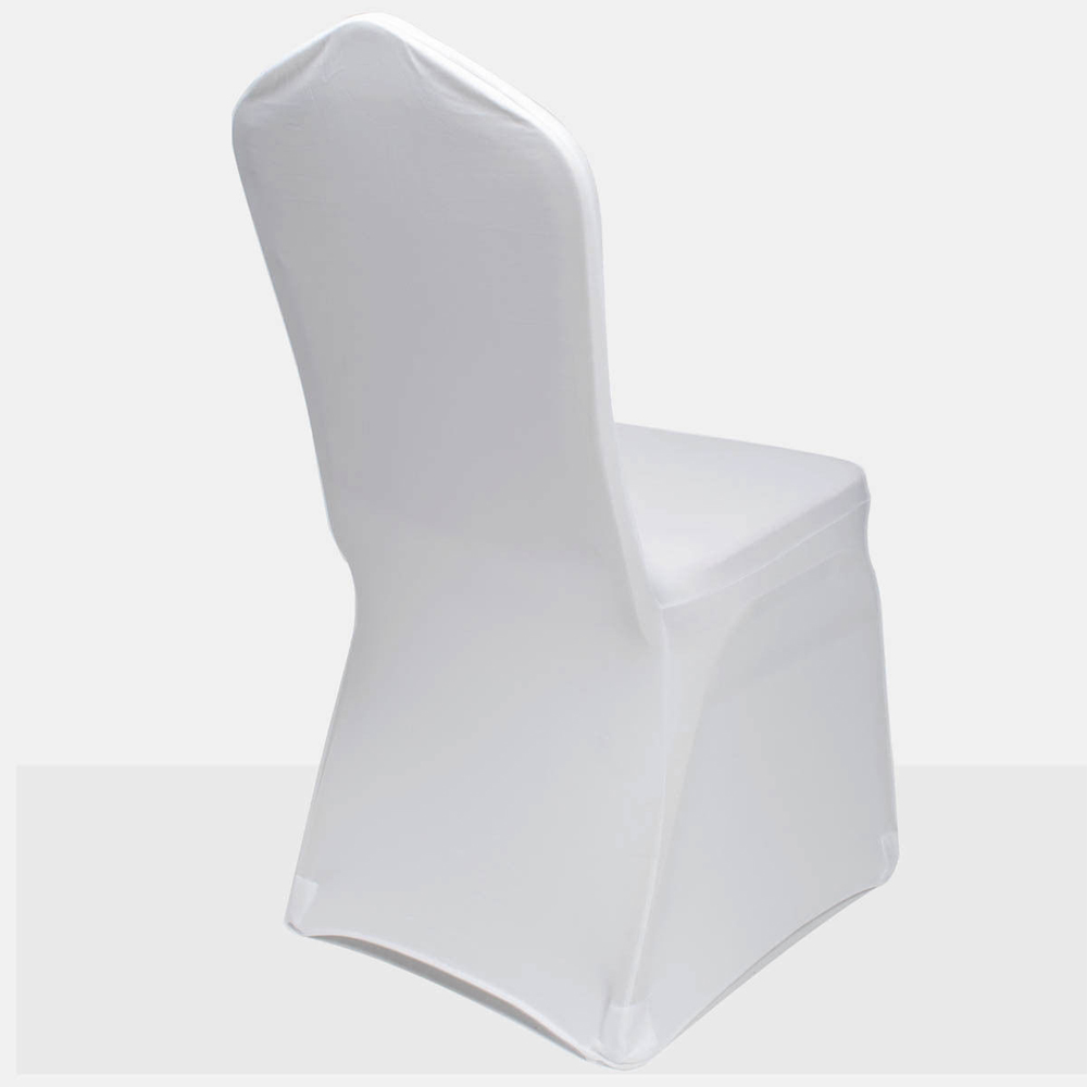 100pcs spandex stretch chair covers white for wedding party