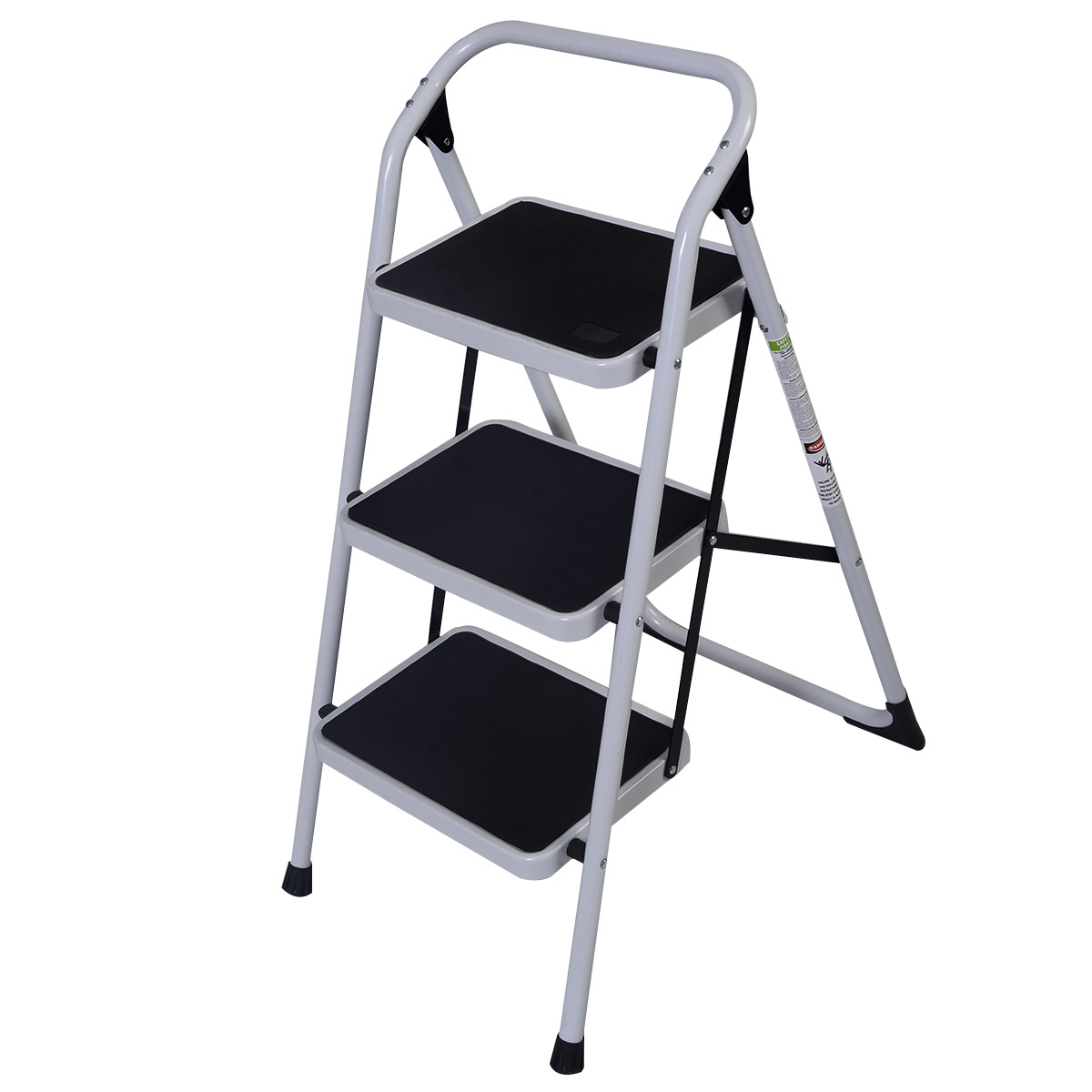 Protable 3 Step Ladder Folding Non Slip Safety Tread Heavy