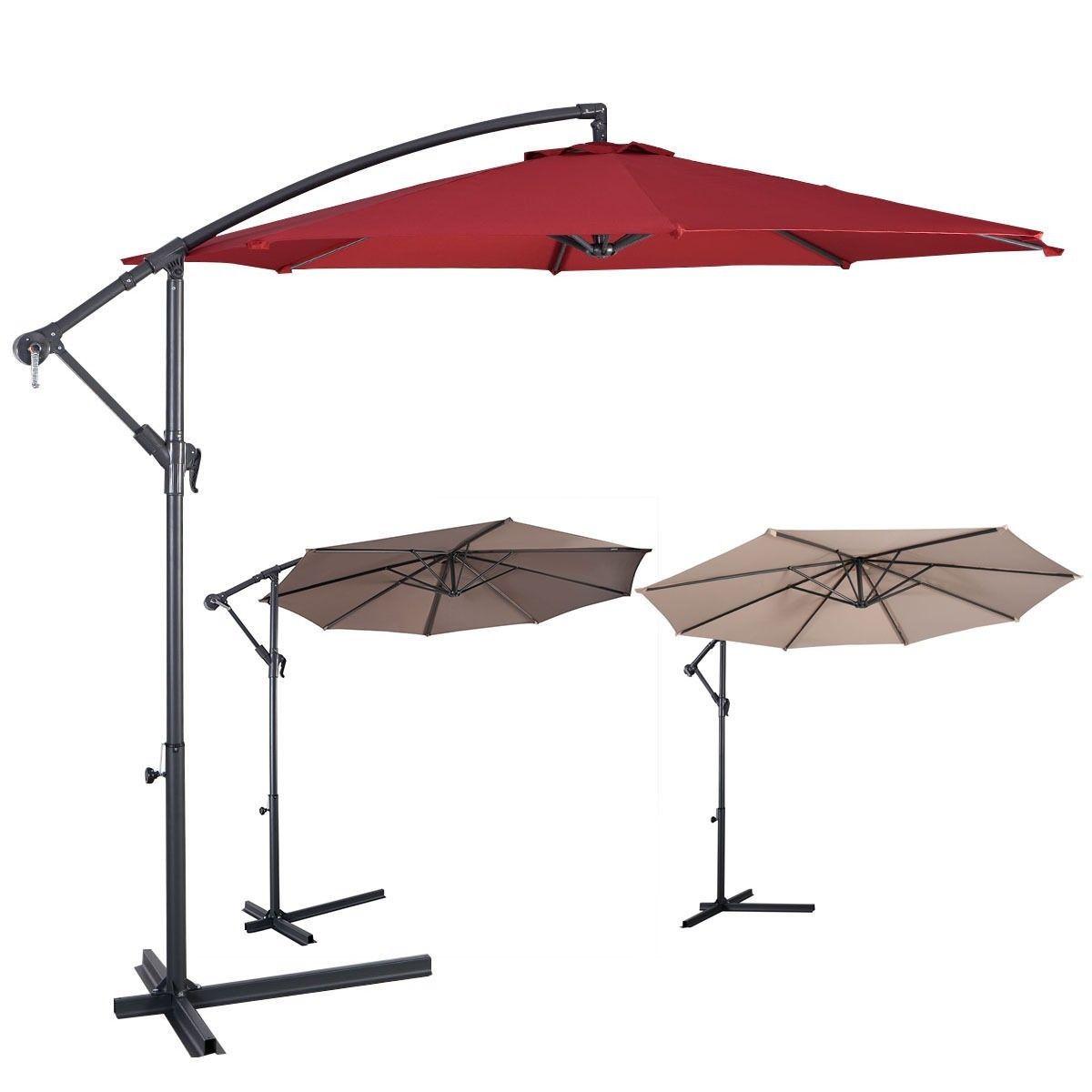 10ft Outdoor Deck Patio Umbrella Offset Tilt Cantilever