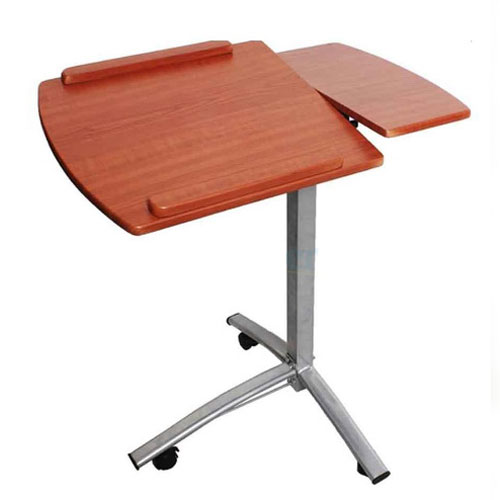 Angle Amp Height Adjustable Rolling Laptop Desk Cart Over