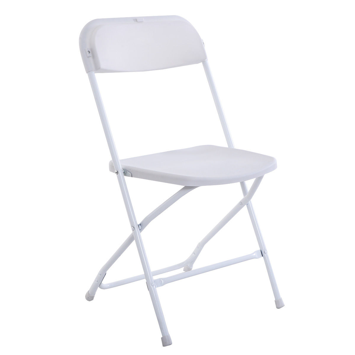 (5) Commercial White Plastic Folding Chairs Stackable Wedding Party Event  Chair