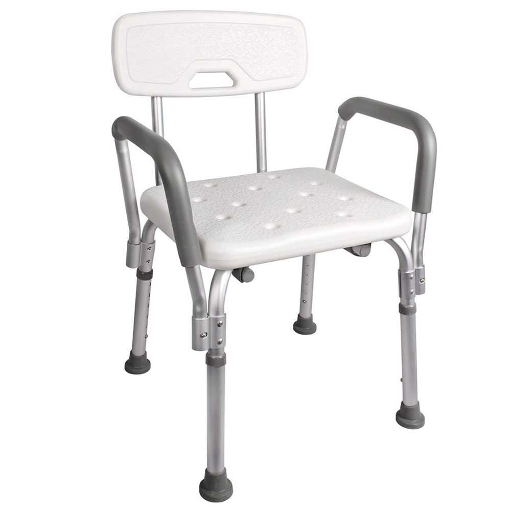 Medical Bathtub Chair Bath Bench Shower Seat Stool Adjustable W Back And Arms Ebay