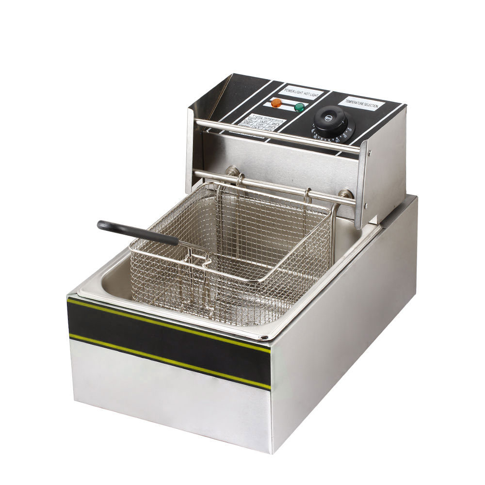 Electric Deep Fryer : New electric countertop deep fryer commercial basket