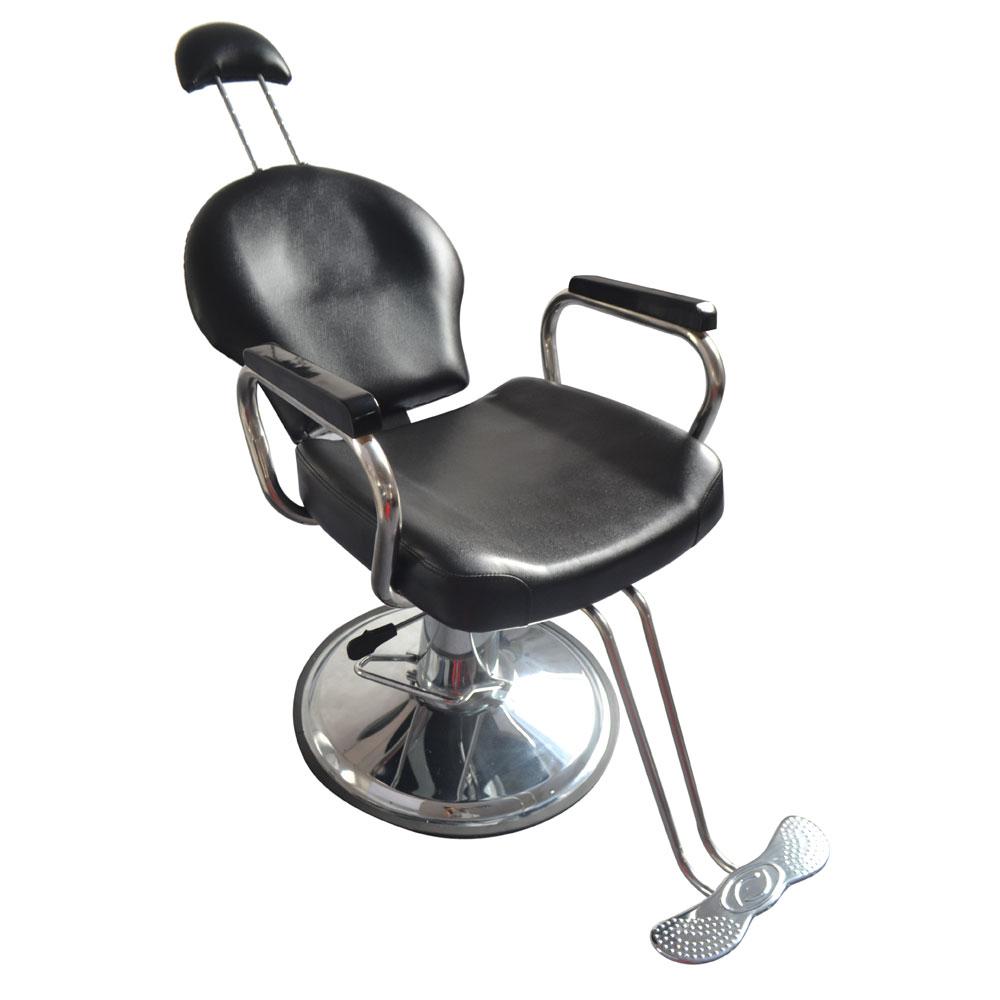 Black All Purpose Reclining Hydraulic Salon Shampoo Chair