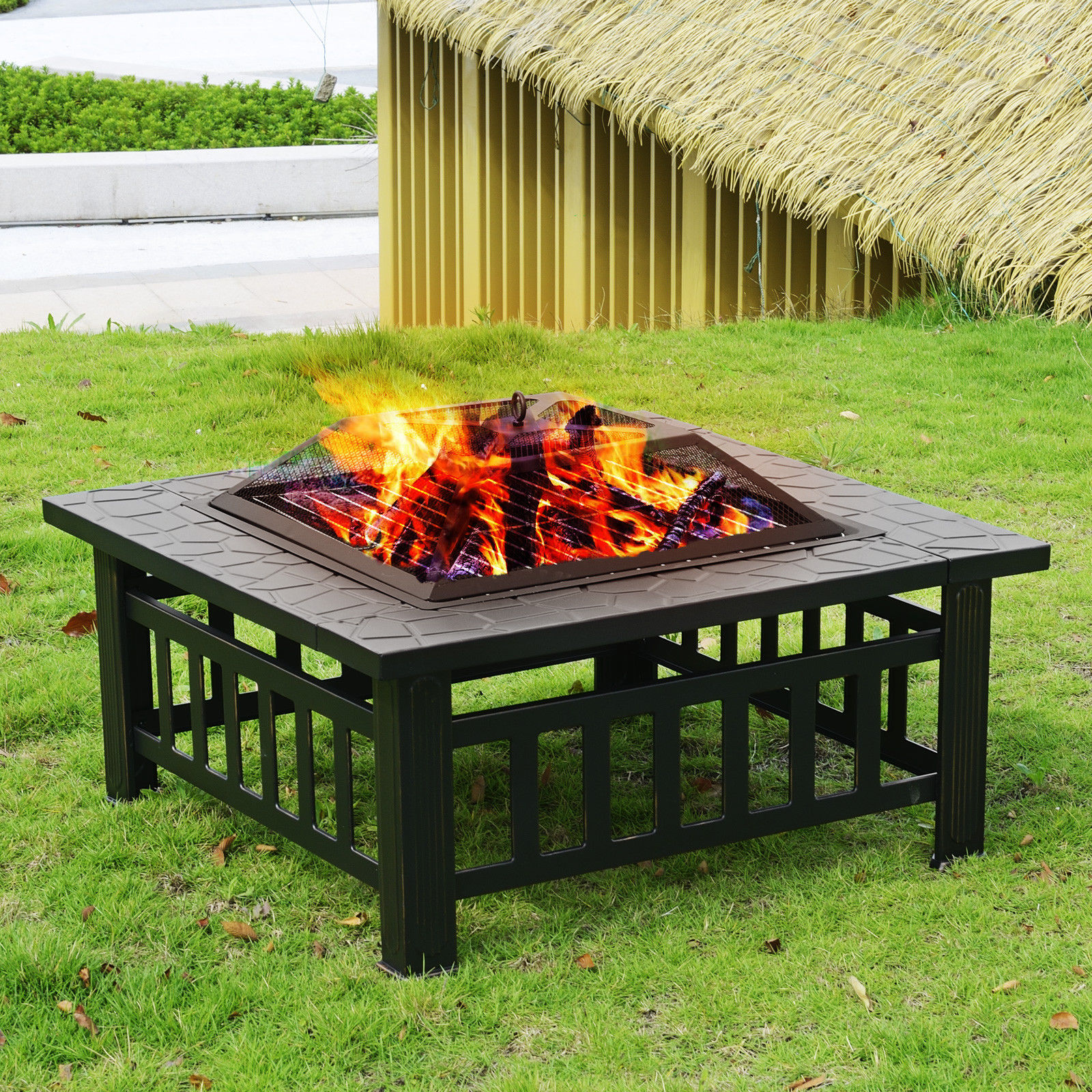 """32"""" Outdoor Garden Fire pit BBQ Grill Stove Heater Patio ..."""