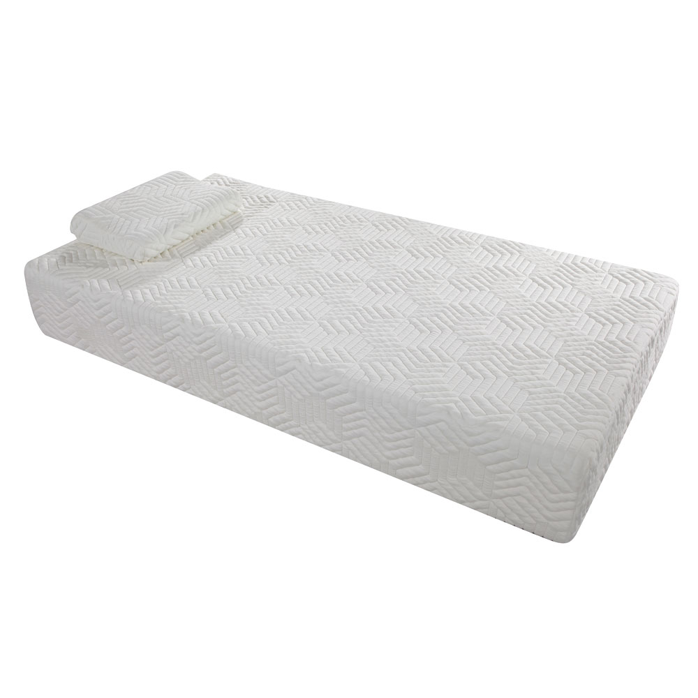 10 Cool Traditional Firm Memory Foam Mattress Bed With 2 Gel Pillows Twin Size Ebay