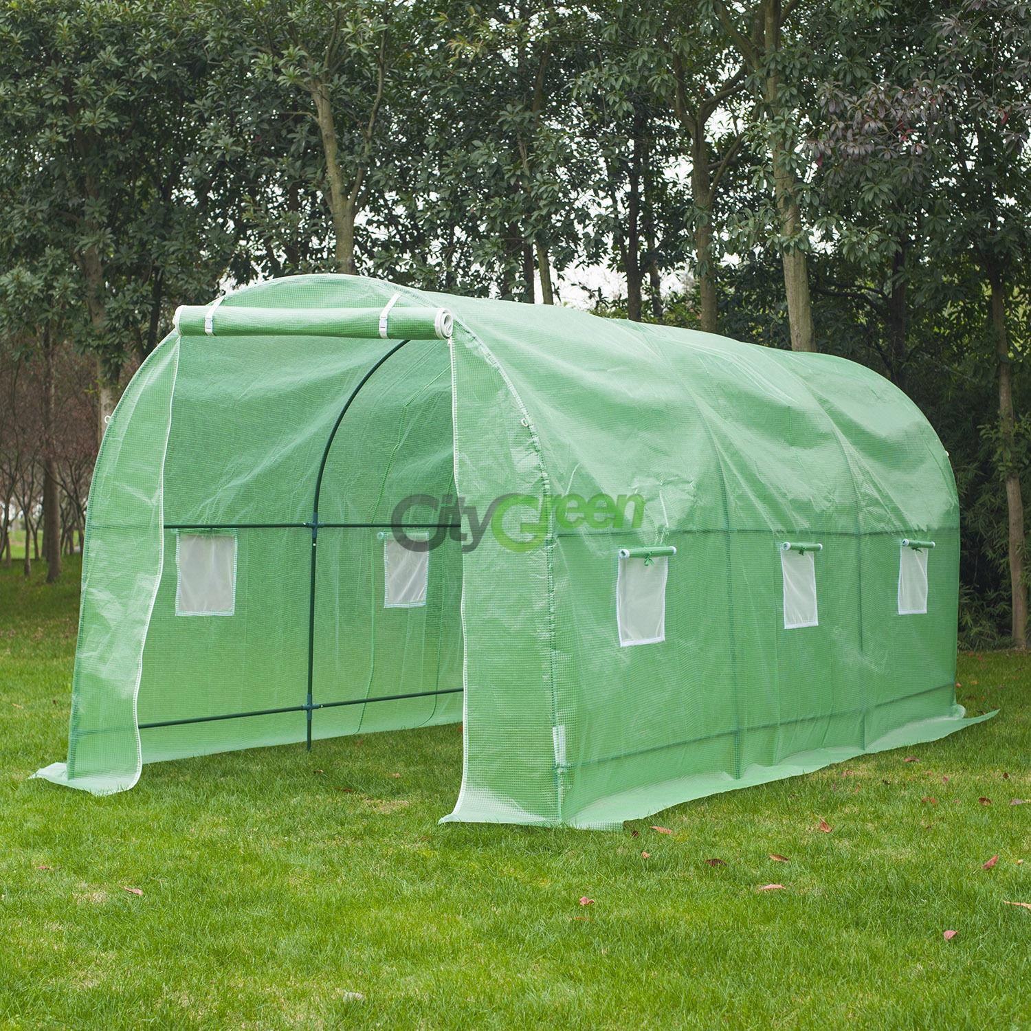 Large 15 X7 X7 Walk In Portable Greenhouse Hot Green