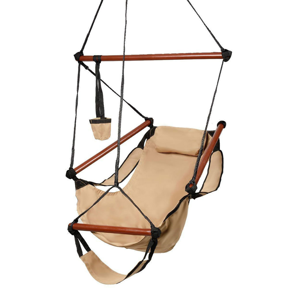 outdoor hanging chair hammock hanging chair air deluxe sky swing outdoor chair 29659