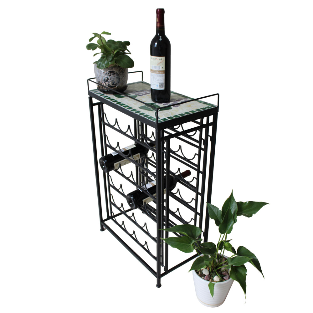 new glass top wine rack table kitchen home bar d 233 cor