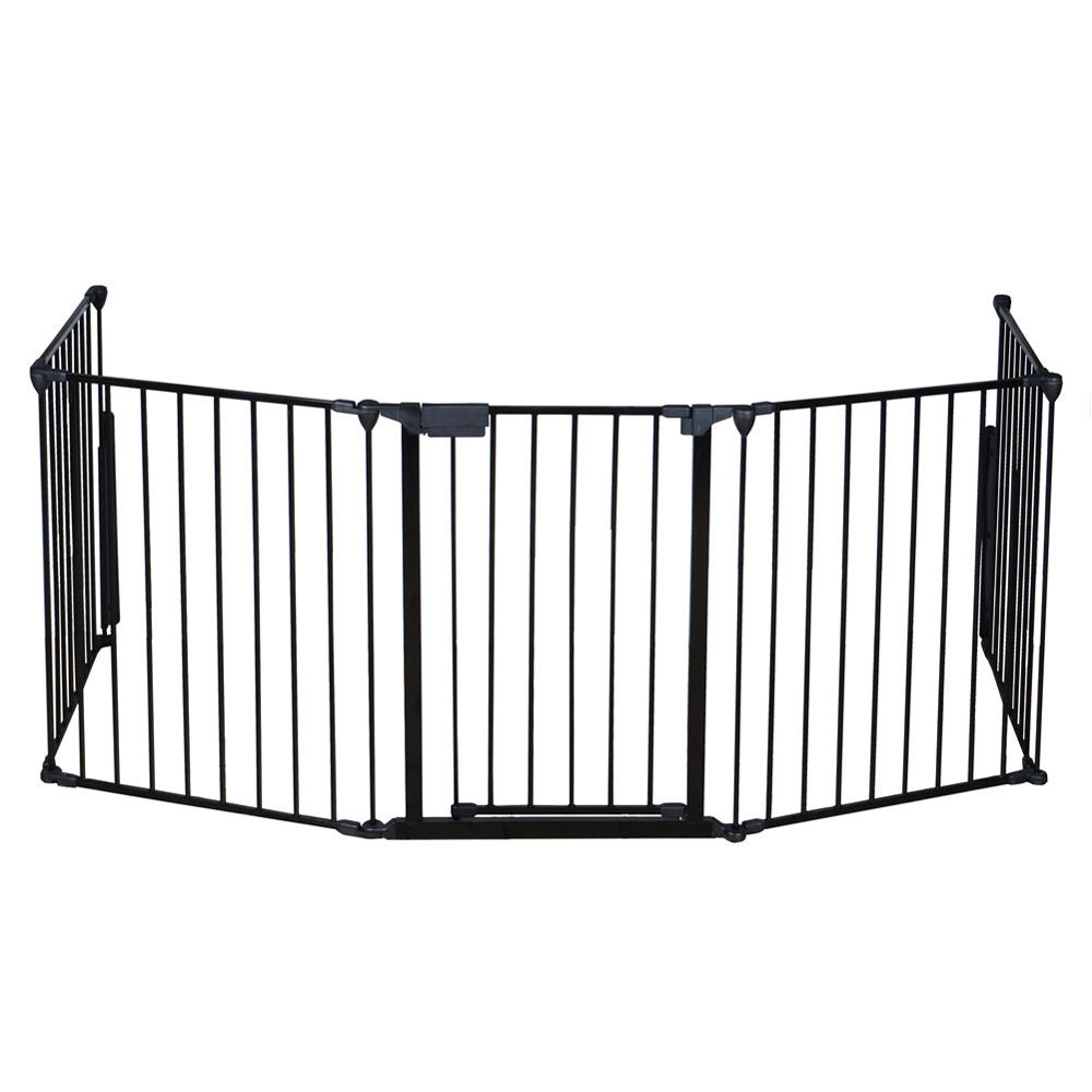 fireplace fence baby safety fence hearth gate pet dog cat steel