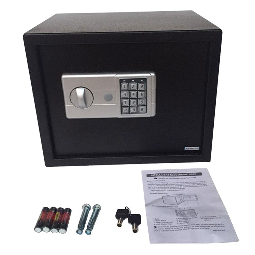 large 15 digital electronic safe box keypad lock security home office 30 black. Black Bedroom Furniture Sets. Home Design Ideas