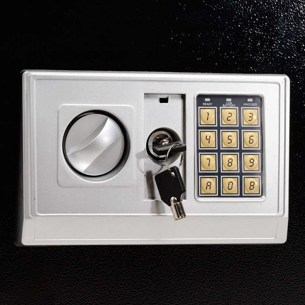 new large digital electronic safe box keypad lock security home office hotel gun. Black Bedroom Furniture Sets. Home Design Ideas
