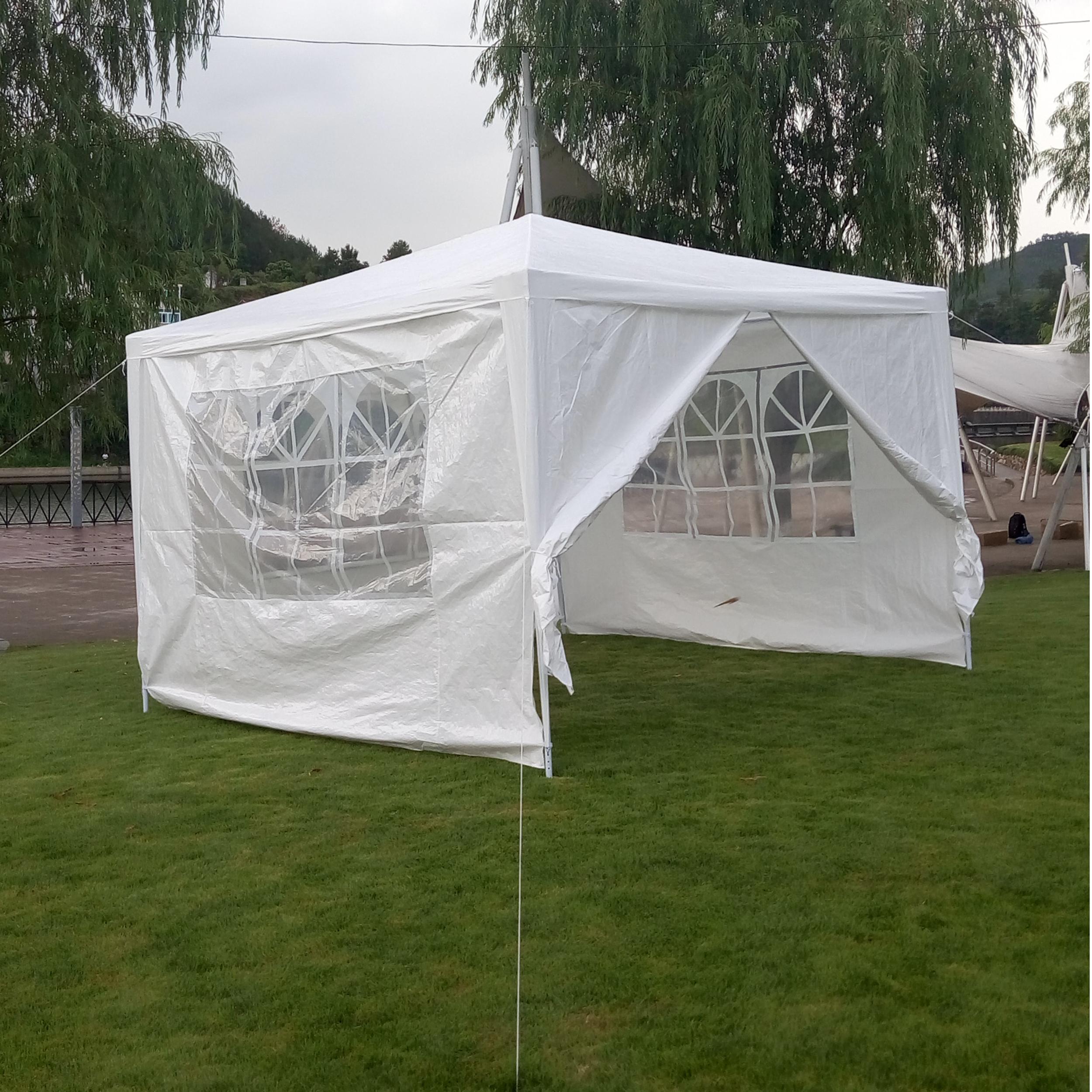 X10 Outdoor Lighting: 10'x10' 4 Walls Outdoor Canopy Party Wedding Tent Heavy