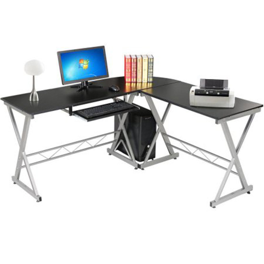 Computer Desk Pc Laptop Wood Table Home Office Study: L-Shaped Corner Computer Desk PC Latop Study Table