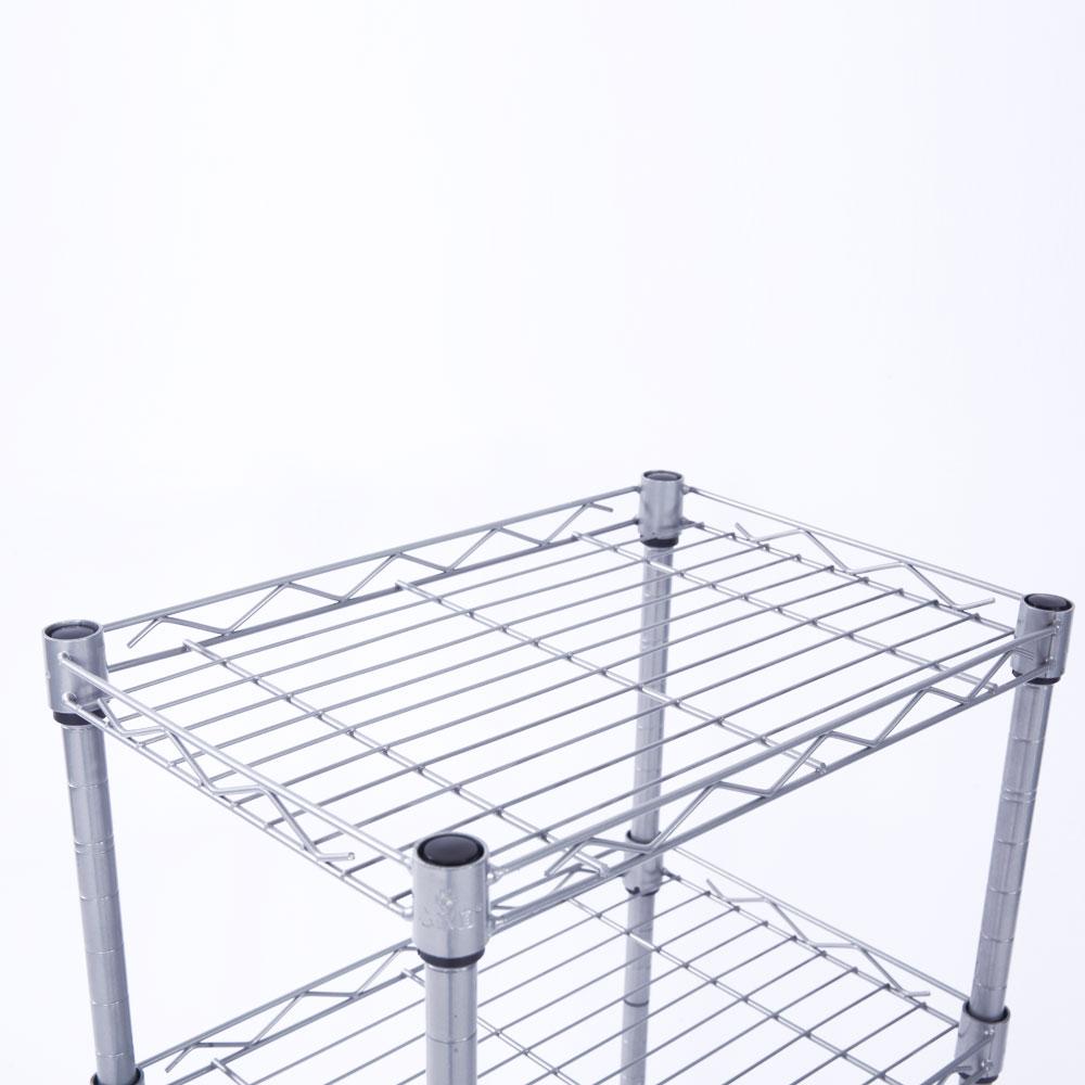 4 Tier Wire Shelving Steel Rack Shelf Adjustable Unit