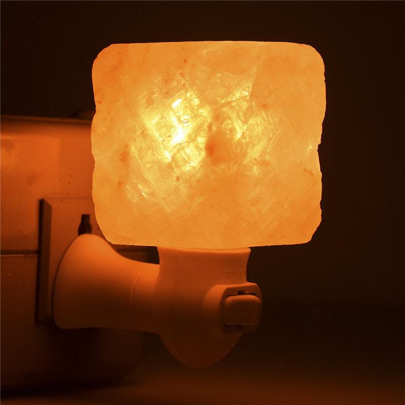 Natural Lonic Crystal Himalayan Salt Rock Night Lamp Air Purifier Wall Light