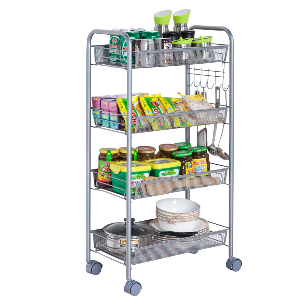 kitchen storage caddy 3 4 5 tier organizer metal rolling storage shelving rack 3130