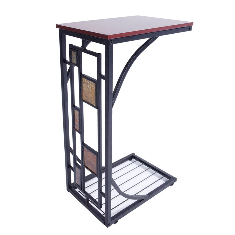 C Shaped Coffee Tray Sofa Side End Table Lap Stand Tv Snack Ottoman