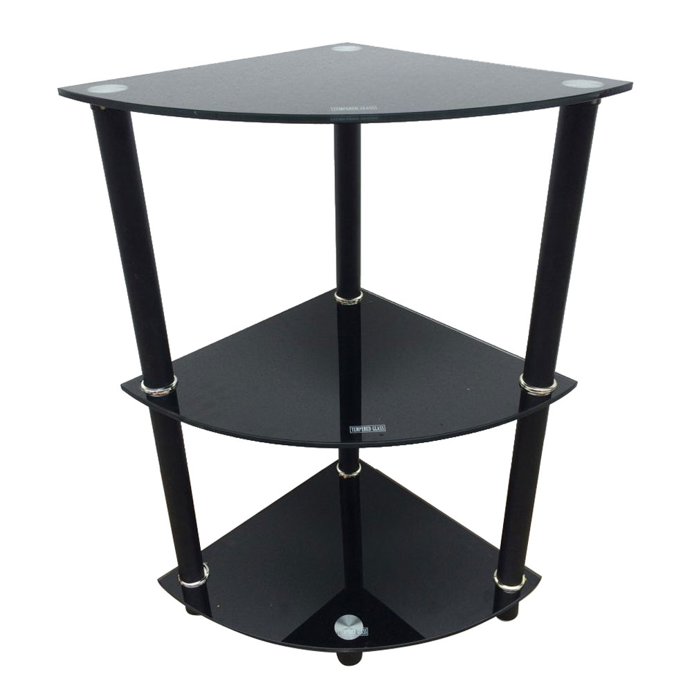 What We Are Going To Recommend You Here Is This Exquisite Three Tiers  Triangle Tempered Glass Side Table! It Is Not Only A Decorative Item To  Highlight The ...