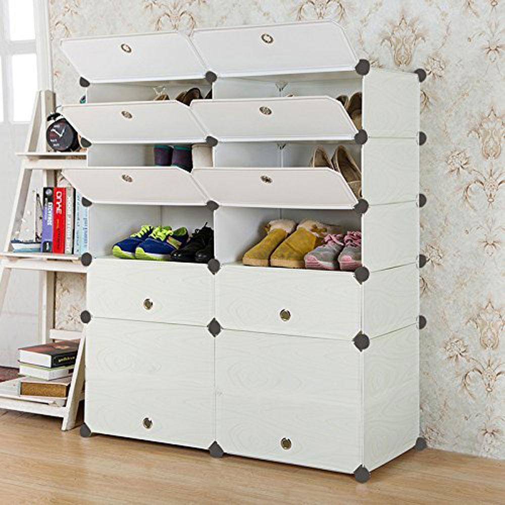 ABS DIY Cube Grids Storage Clothes Shoes Rack Closet
