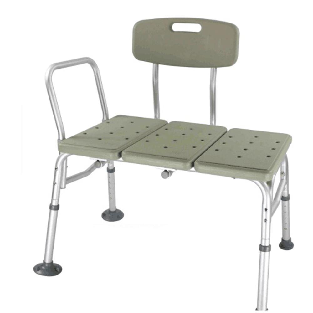 Gray Medical Shower Chair 10 Height Adjustable Bath Tub Bench Stool ...