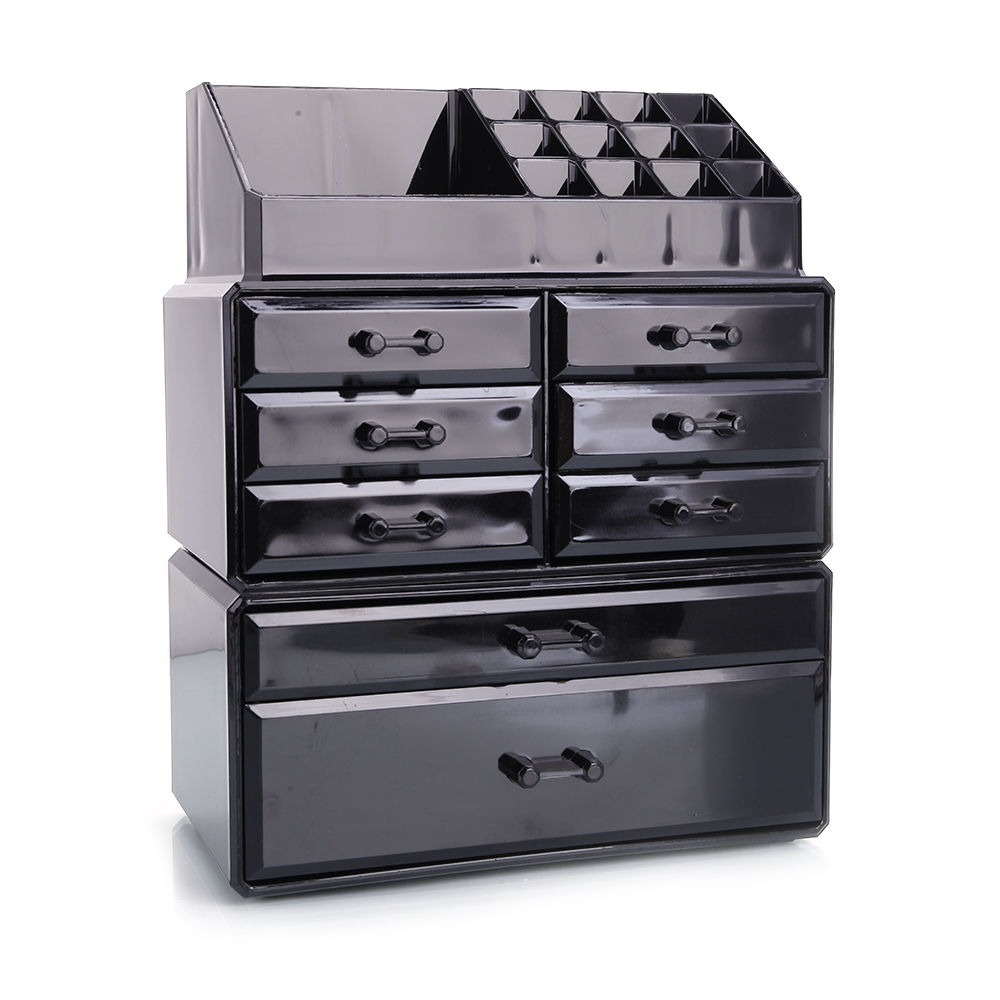 Acrylic Makeup Organizer Beauty 8 Drawer Storage Case Box Holder
