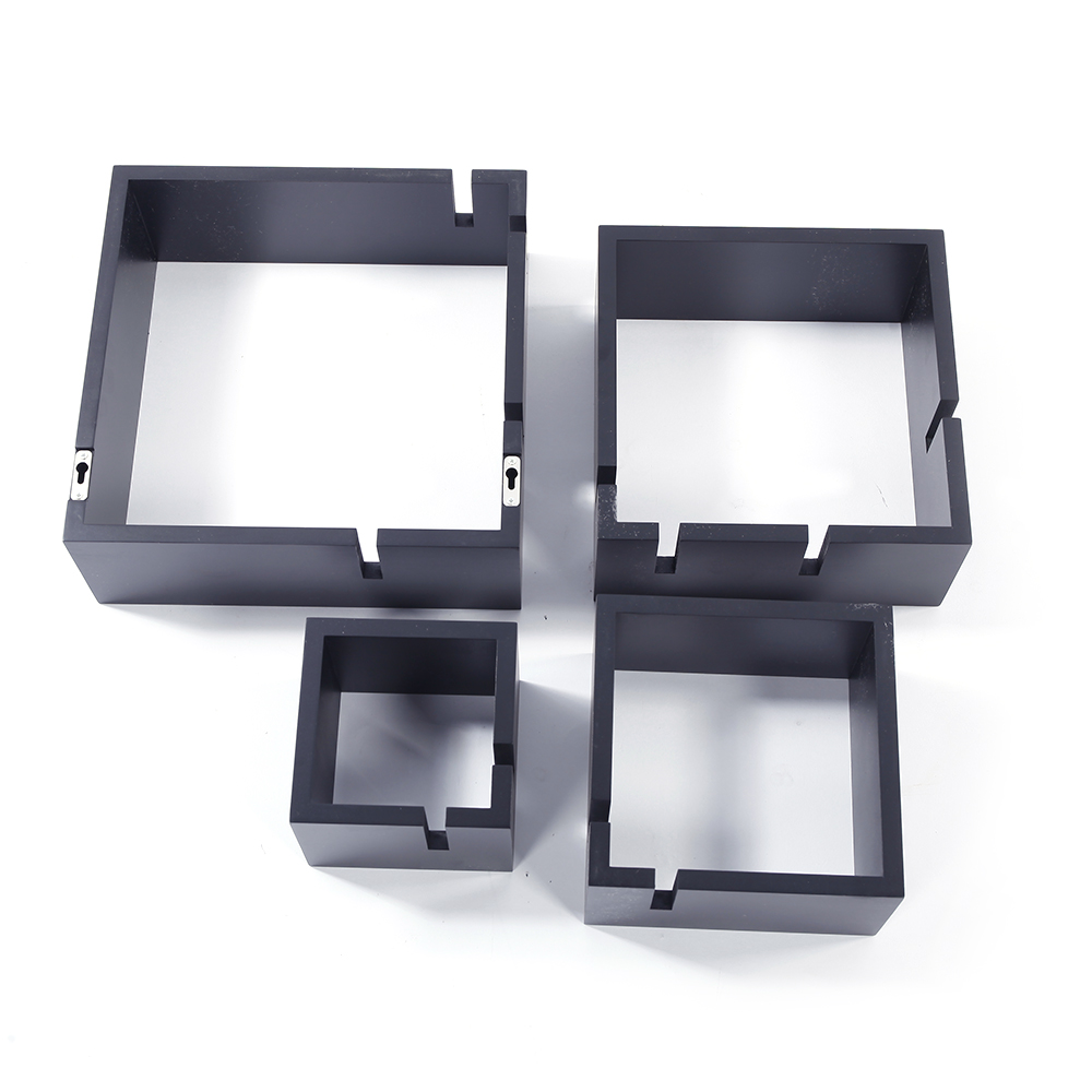 New Design Intersecting Squares Floating Shelf Wall Mounted Home