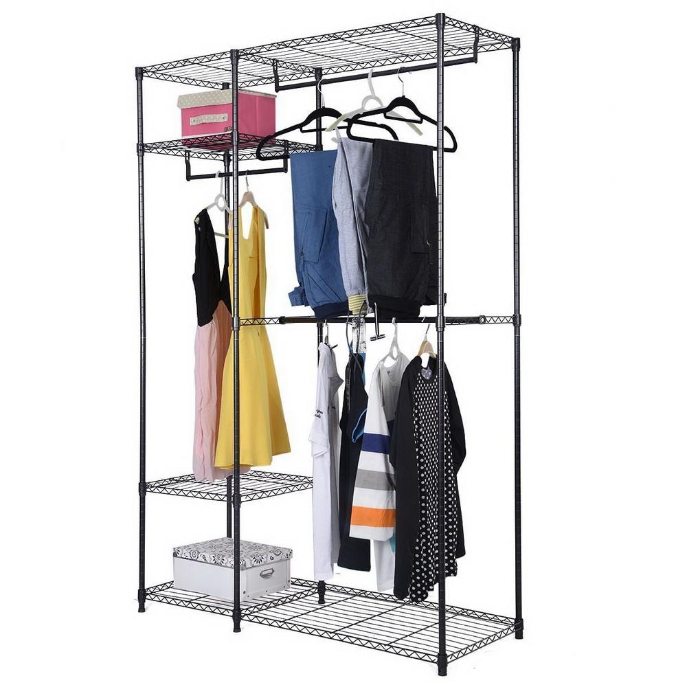 48 X18 X71 Closet Organizer Garment Rack Portable Clothes Hanger