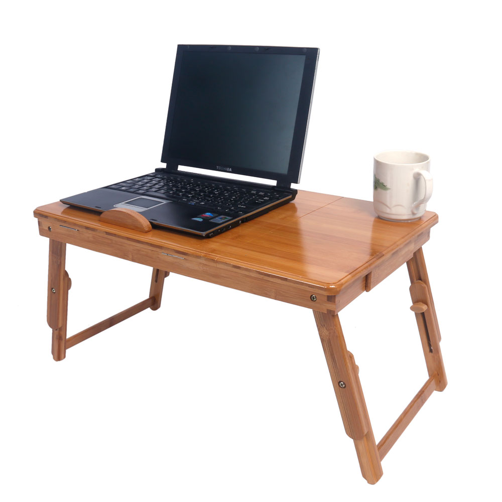 Portable folding laptop notebook table desk adjustable laptop stand - Bamboo Portable Folding Laptop Computer Notebook Table Bed Desk Bed Tray Stand Introductions You Can Hardly Imagine How Practical This Computer Desk Will