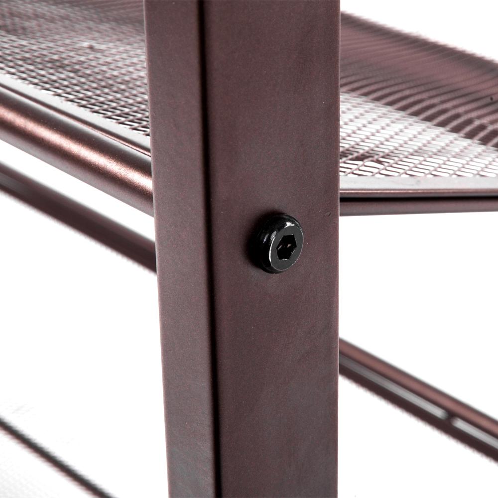 3 Tier Metal Shoe Rack 12 Pair Wall Bench Shelf Closet