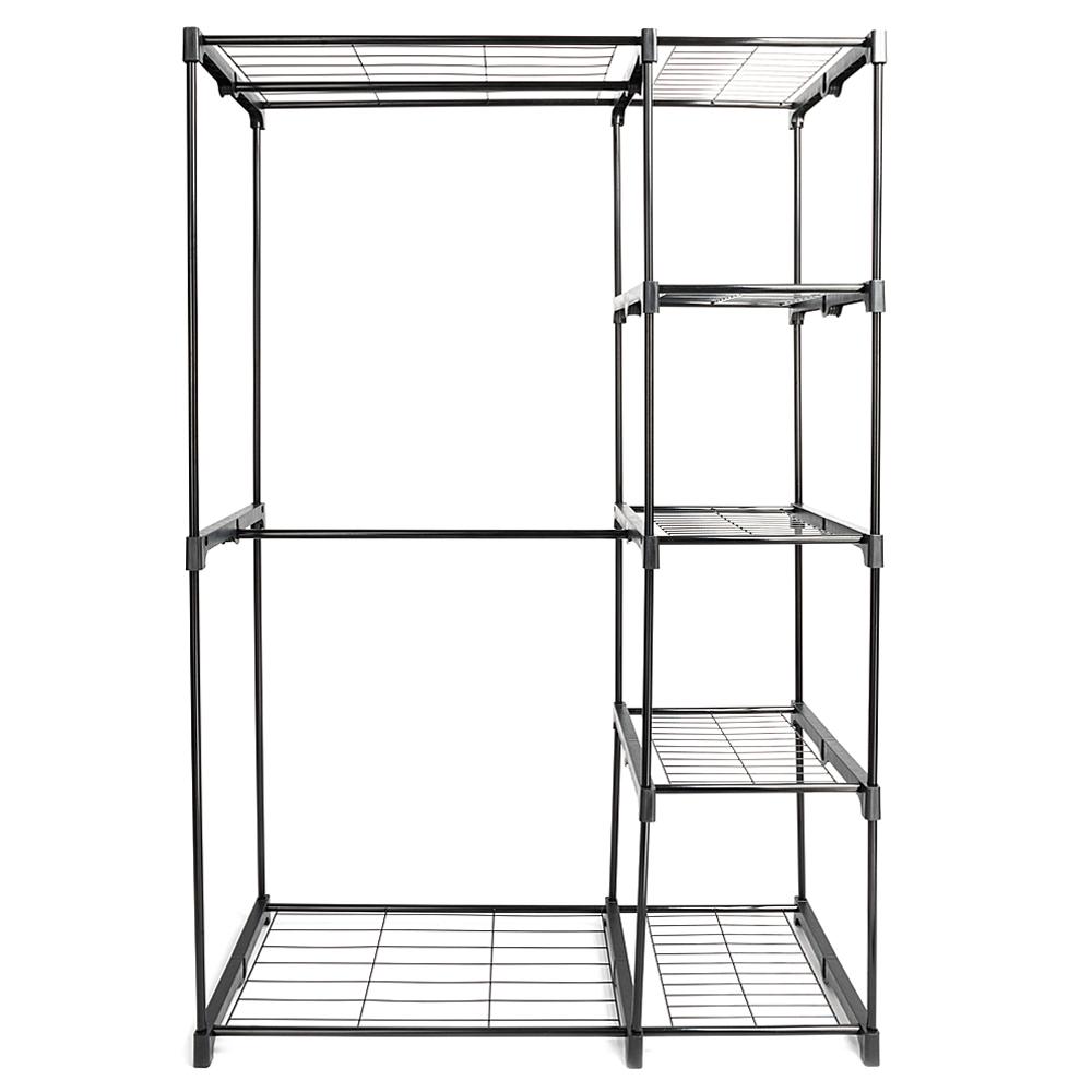 Portable 5 Tier Closet Storage Organizer Wardrobe Clothes
