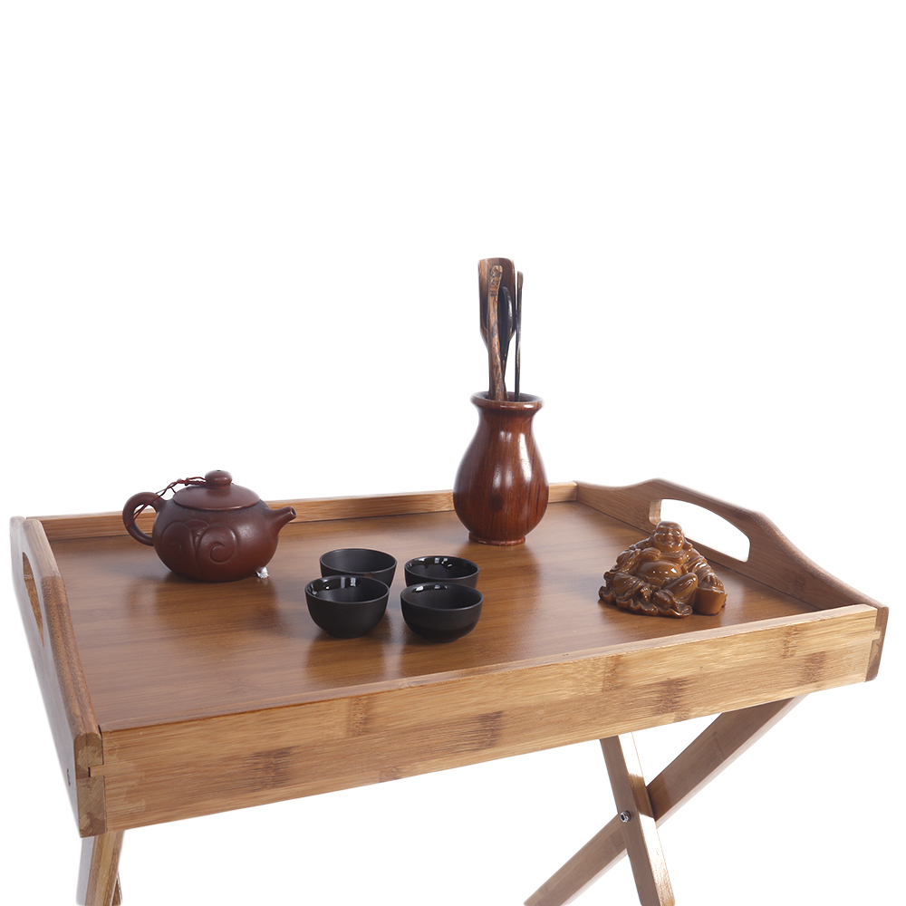 Anthropologie Coffee Table Tray: Wooden Folding Wood TV Tray Dinner Table Coffee Stand