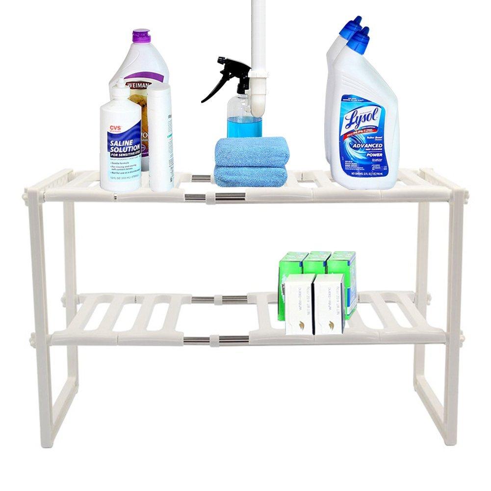 Under Kitchen Sink Storage Rack on kitchen under sink storage unit, kitchen under sink towel rack, inside sink dish rack,