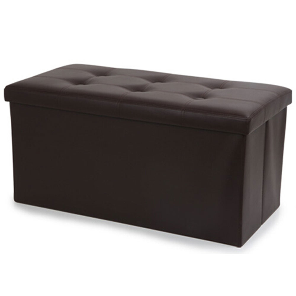 New Faux Leather Storage Footstool Sofa Ottoman Bench