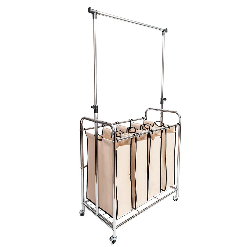 Unique Laundry sorter with Hanger Bar