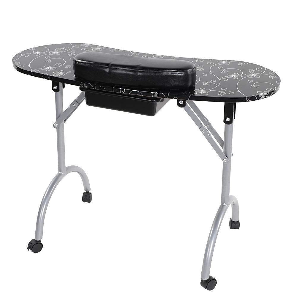 New Folding Manicure Nail Table Portable Station Desk Spa Beauty ...