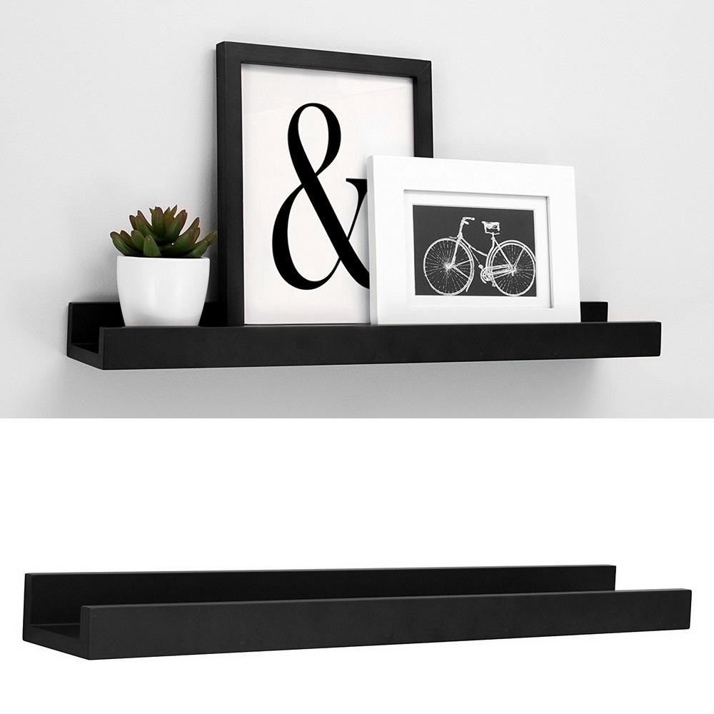 Wallniture 23 wall mount floating shelves picture ledge space saving black