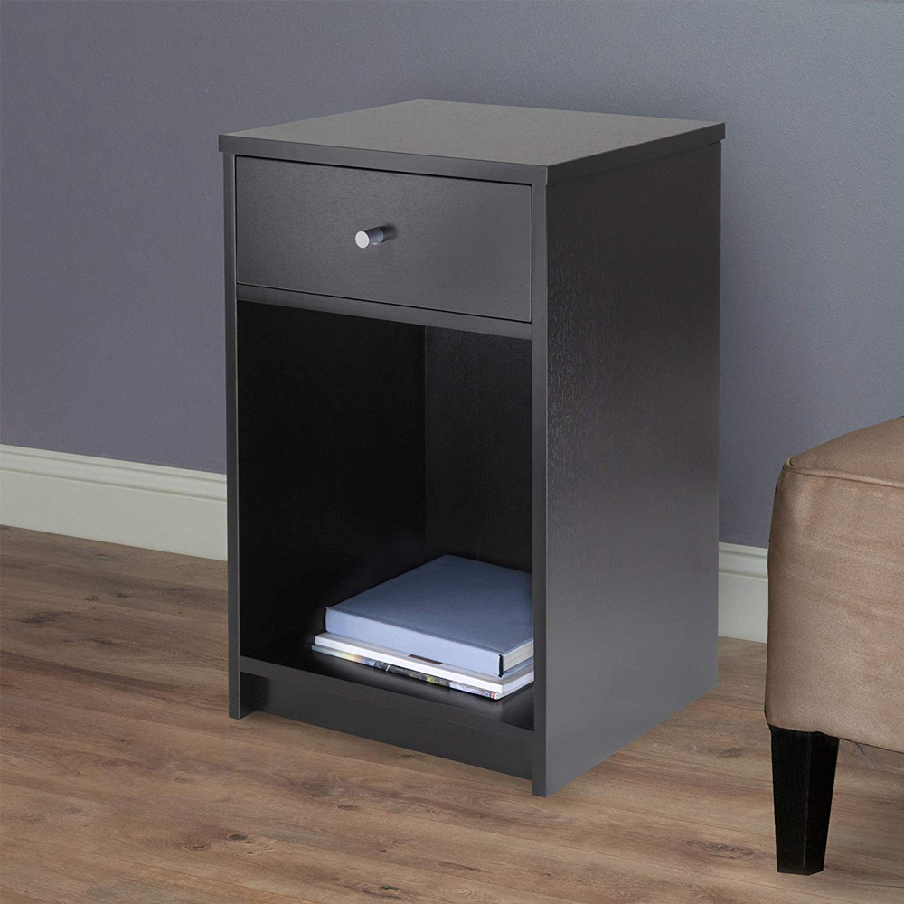 Bedroom Furniture Us Shipping Assemble Storage Cabinet Bedroom Bedside Locker Double Drawer Nightstand Home Decoration Accessories Modern 100% Original Home Furniture