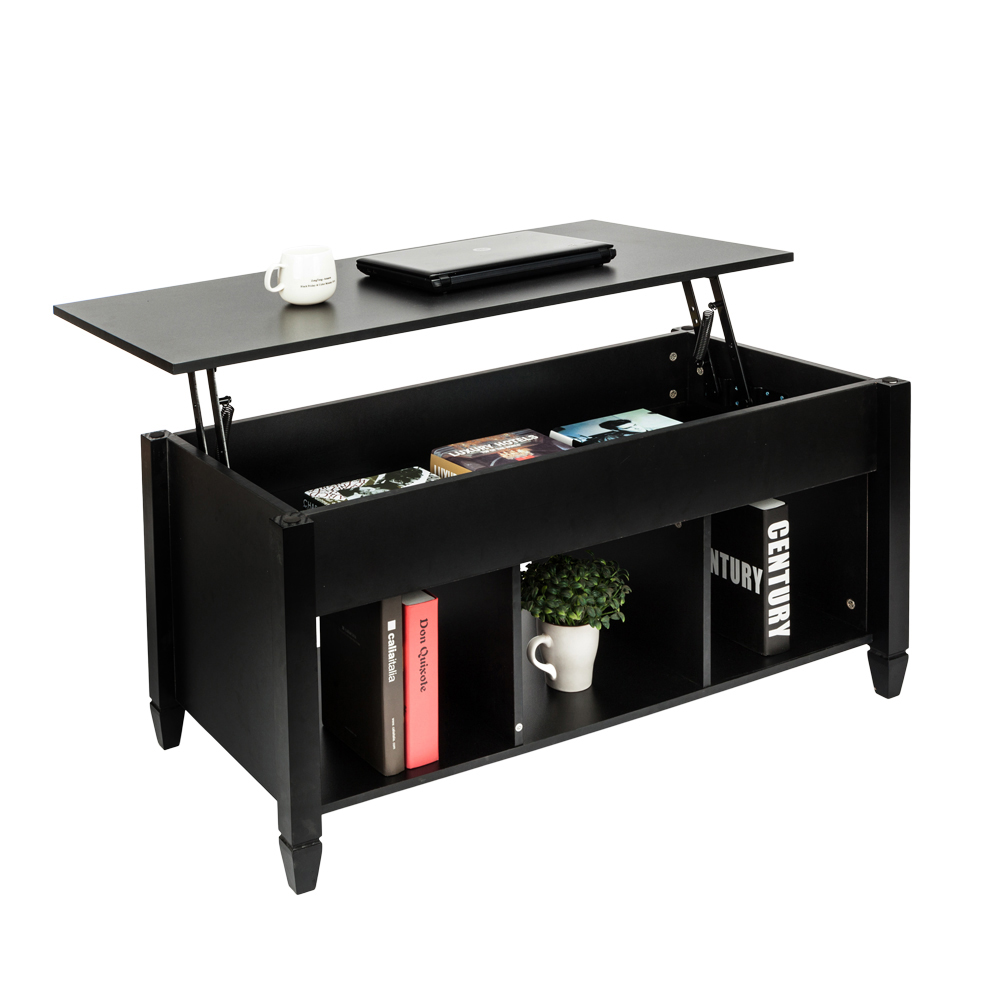 Lift Top Coffee Table Black.Details About Lift Top Coffee Table Black Home Furniture W Hidden Storage Compartment Shelf