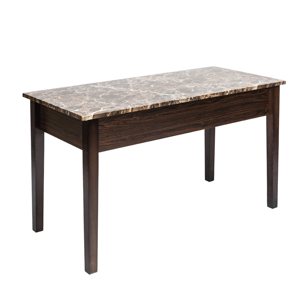 Faux Marble End Table Lift Top With Storage Space Living