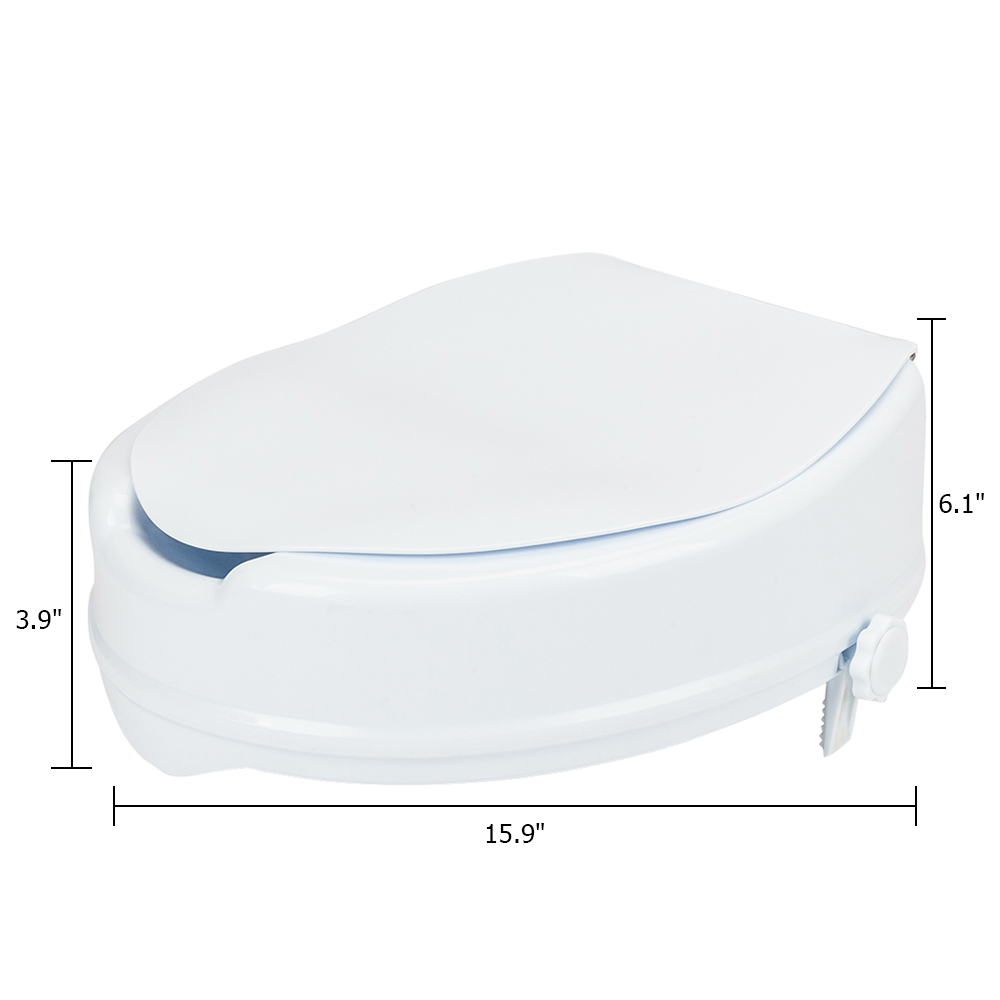 Marvelous Details About Medical Elevated Raised Toilet Seat Riser With Cover Heavy Duty Uwap Interior Chair Design Uwaporg