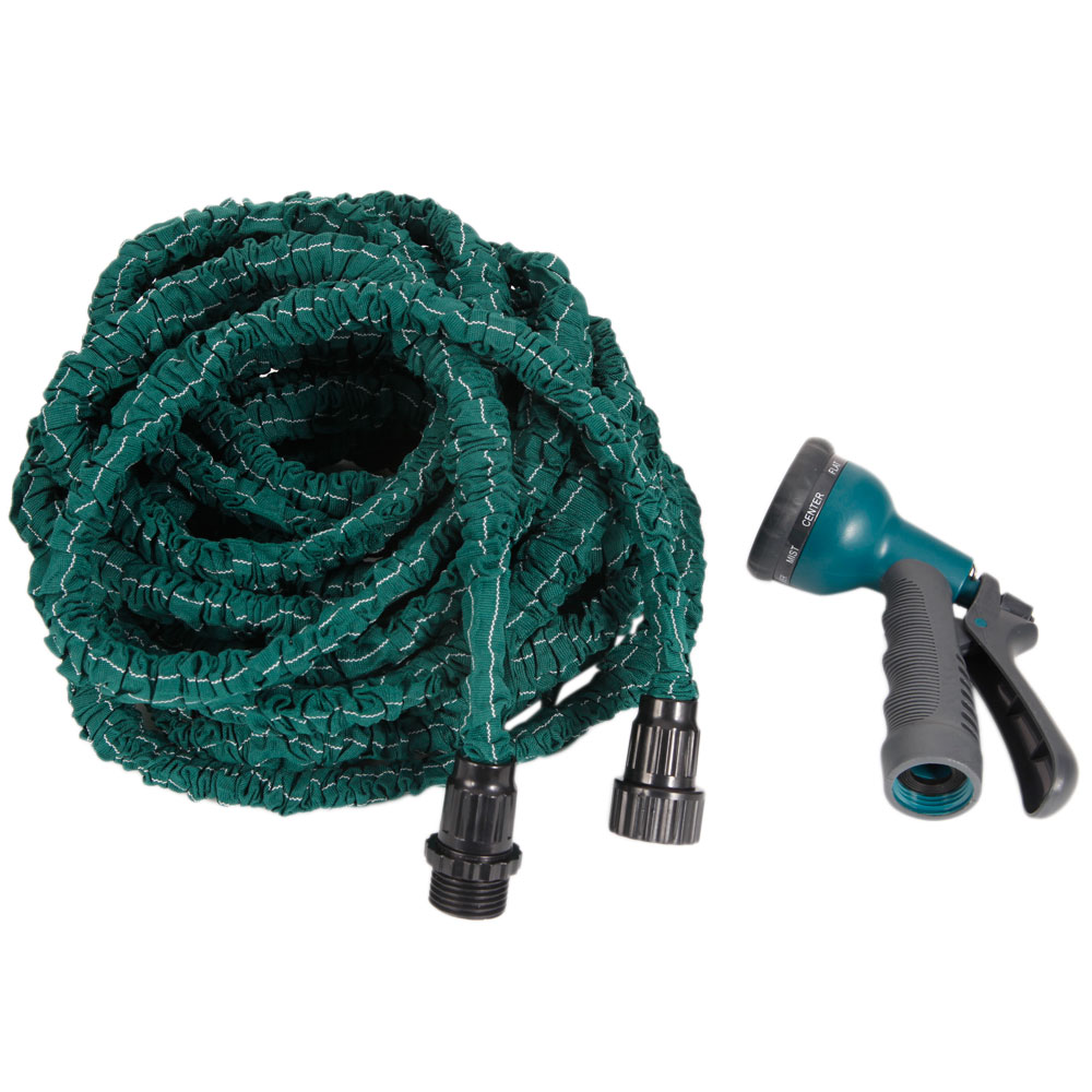New expandable flexible garden water hose with spray