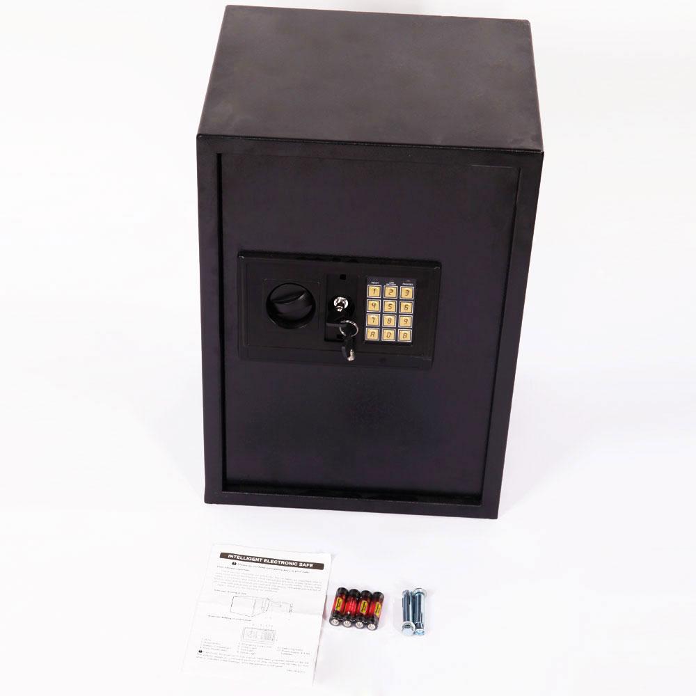 new large digital electronic safe box keypad lock security home office black. Black Bedroom Furniture Sets. Home Design Ideas