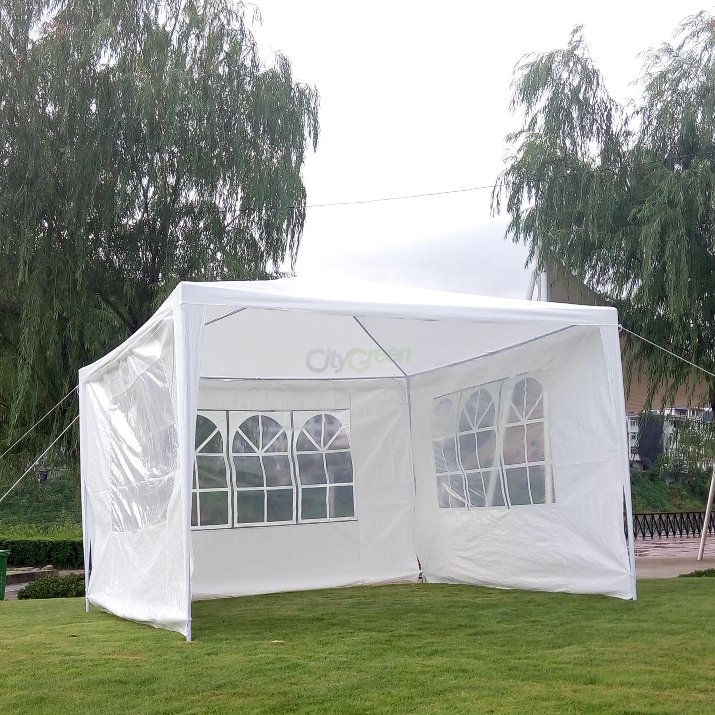 10 39 x 10 39 party tent outdoor heavy duty gazebo wedding canopy w 3 side walls ebay. Black Bedroom Furniture Sets. Home Design Ideas